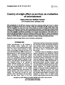 Country of origin effect on services: an ... - Taylor & Francis Online