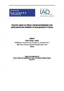 Country report on labour market participation and socio-economic