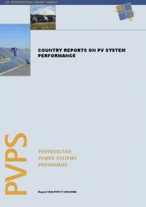 Country Reports on PV System Performance - IEA-PVPS
