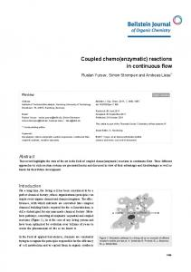 Coupled chemo(enzymatic) reactions in ... - Semantic Scholar
