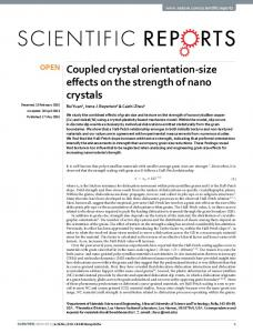 Coupled crystal orientation-size effects on the