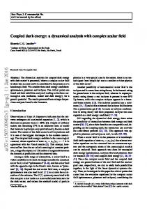 Coupled dark energy: a dynamical analysis with complex scalar field