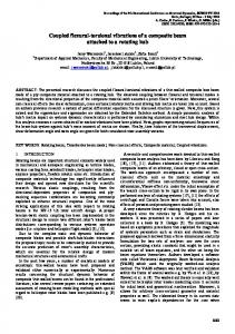 Coupled flexural-torsional vibrations of a composite beam attached to ...