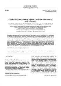 Coupled flood and sediment transport modelling with adaptive mesh