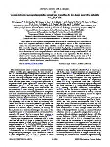 Coupled structural/magnetocrystalline anisotropy ... - APS Link Manager