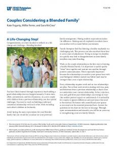 Couples Considering a Blended Family - EDIS - University of Florida