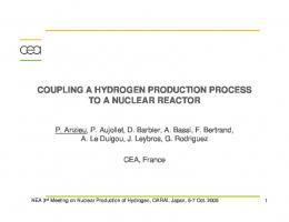 Coupling a Hydrogen Production Process to a Nuclear Reactor