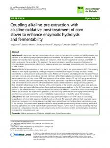 Coupling alkaline pre-extraction with alkaline-oxidative ... - Springer Link