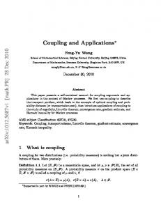 Coupling and Applications