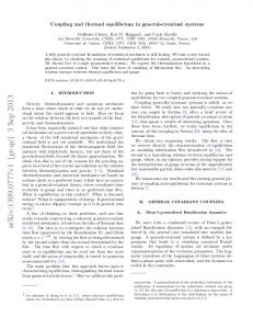 Coupling and thermal equilibrium in general-covariant systems