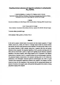 Coupling between phonons and magnetic excitations in ... - arXiv