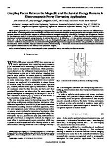 Coupling Factor Between the Magnetic and Mechanical ... - IEEE Xplore