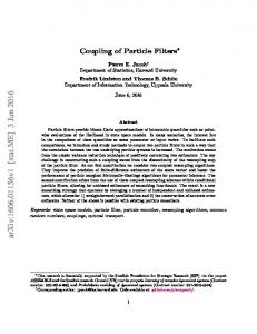 Coupling of Particle Filters