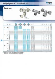 Couplings to ISO 8434-1/DIN 2353 Equal tees - Farnell