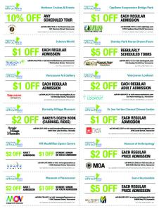 Coupons - Vancouver Attractions