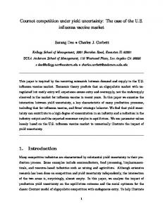 Cournot competition under yield uncertainty: The ... - Semantic Scholar