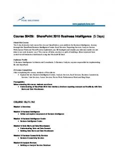 Course 50429: SharePoint 2010 Business ... - Peak Solutions