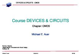 Course DEVICES & CIRCUITS