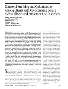 Course of Smoking and Quit Attempts Among ... - Psychiatric Services