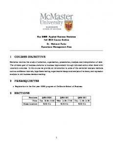 Course Outline - McMaster University