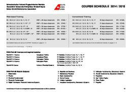 COURSE SCHEDULE 2013/2014