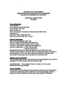 Course Syllabus - Central State University