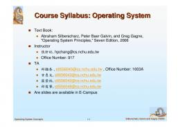 Course Syllabus: Operating System