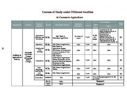 Courses Offered - University of Calcutta