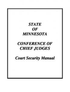 Court Security Manual - 9-11 Summit