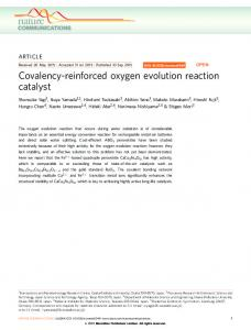 Covalency-reinforced oxygen evolution reaction catalyst - Nature