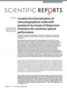 Covalent functionalization of reduced graphene