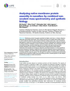 covalent mass spectrometry and synthetic biology - Semantic Scholar