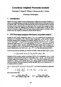 Covariance weighted Procrustes analysis - CiteSeerX