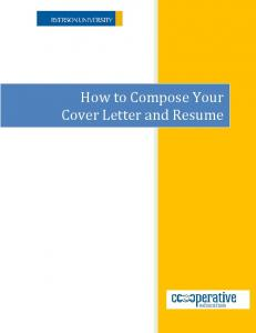 Cover Letter & Resume Guide