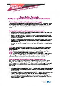 Cover Letter Template - No Experience - Aplus