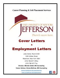 Cover Letter Writing Booklet