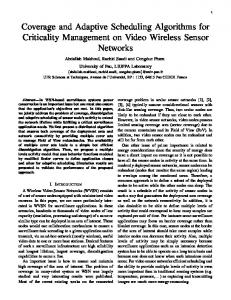 Coverage and Adaptive Scheduling Algorithms for Criticality