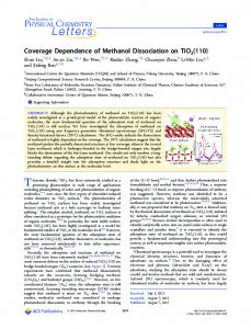 Coverage Dependence of Methanol Dissociation ... - ACS Publications