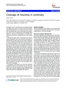 Coverage of neuroma in continuity - Springer Link