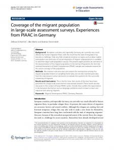 Coverage of the migrant population in large-scale assessment ... - Core