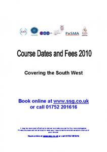 Covering the South West Book online at www.ssg.co.uk or call ...