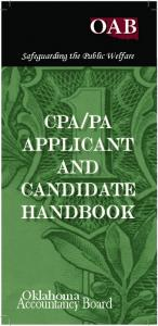 cpa/pa applicant and candidate handbook - State of Oklahoma