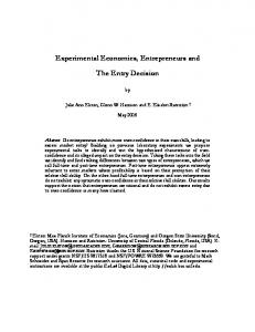 C:\papers\ee\entrepreneur\papers\Experimental Economics ... - ITD