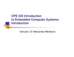 CPE 323 Introduction to Embedded Computer Systems - Electrical ...