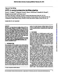 CPFP: A central proteomics facilities pipeline