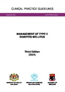 CPG - Management of Type 2 Diabetes Mellitus - MEMS