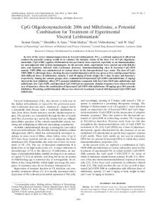 CpG Oligodeoxynucleotide 2006 and Miltefosine, a Potential ...