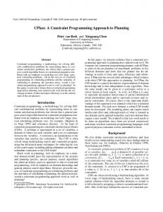 CPlan: A Constraint Programming Approach to Planning