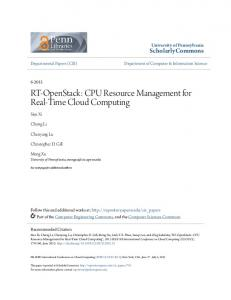 CPU Resource Management for Real-Time ... - ScholarlyCommons