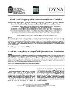 Crack growth in pyrographite under the conditions ... - SciELO Colombia